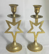 Beautiful Decorative Brass Candle Stands (Height - 19 cm)