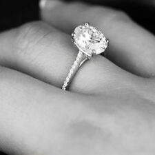 New 2.06 Ct Oval Cut Diamond Engagement Ring U-Setting G, SI2 GIA Platinum