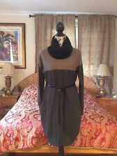 $2K+ LUXE CHIC SUMPTUOUS WARM Loro Piana BABY cashmere taupe/grey dress sweater