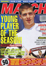 GERRARD / CELTIC / LIVERPOOL / CHELSEA Match May 5 2001