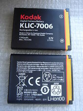 Batterie D'ORIGINE KODAK KLIC-7006 CASIO NP-80 NP80 NP-82 NP82 GENUINE Battery