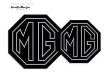 MG TF 2009 on Badge Inserts Front Grill Rear Badges 70/90mm Black Silver Stroke