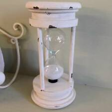 New Large Hourglass Country Kitchen Egg Timer Vintage Shabby Chic Cream Gift