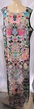 ASOS CURVE MAXI DRESS MULTI-COLOR MIRROR FLORAL PRINT WOMENS PLUS 16 OR 18 NWT