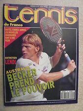 TENNIS de FRANCE  n° 455 mars 1991 LENDL. OPEN D'AUSTRALIE. B. BECKER. M. SELES