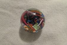 Douglas  Sweet Art Glass Marble Paperweight Signed Free shipping