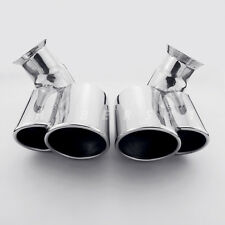 1 Pair Quad 304 Stainless Dual Out Exhaust Tips for Porsche Carrera C2 911 996