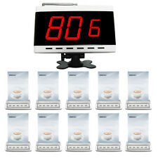 SINGCALL Wireless Restaurant Calling System 1 Screen Receiver and 10 Buttons
