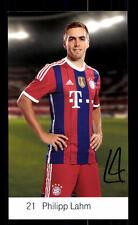 Philipp Lahm Autogrammkarte Bayern München 2014-15 Original Signiert+ C 2634