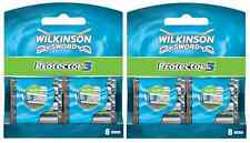 New Genuine Wilkinson Sword Mens Protector 3 Razor Blades - 16 Pack Refill