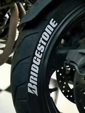 Bridgestone white tire stickers , tire decals, tire lettering for MX bikes