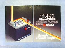 QUATTROR983-PUBBLICITA'/ADVERTISING-1983- SCAINI BATTERIA TREK -2 fogli