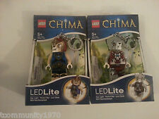 Lego Chima Laval and Worriz Led Light Up Key Chains - Set Of TWO - Holiday Gift
