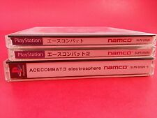 Bundle - Ace Combat 1 & 2 & 3 [Complete CIB] (PS1 Playstation 1) Japan Import