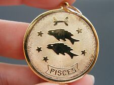 "$28 Nordstrom PISCES Horoscope Sign Zodiac Pendant Coin 1 1/4"" Dia NO CHAIN"