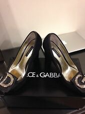 D n G Dolce And Gabbana Womens Pony Skin Pumps Shoes Size 37/4