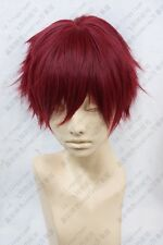 578 Kuroko's Basketball Akashi Seijuro Short Rose Red Cosplay wig free wig cap