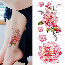 Fashion Removable Waterproof Temporary Watercolor Peony Tattoo Arm Sticker