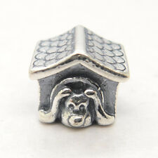 Genuine Authentic S925 Silver Dog House Red Enamel Heart charm