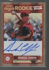 ANDREW CHAFIN  2011 PLAYOFF CONTENDERS ROOKIE TICKET AUTO CARD #RT41