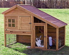 New Large 2 Two Story Rabbit Hutch Small Animal Enclosure Guinea Pig Cage