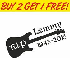 RIP Lemmy Guitar Sticker vinyl laptop car tool box Decal Heavy Metal