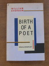 BIRTH OF A POET by William Everson  - 1st/1st color title-page - black sparrow
