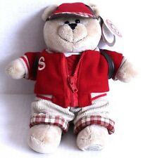 Starbucks Bearista Bear Back to School 2004 Plush Backpack Jacket 33rd Edition