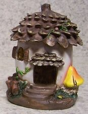 "Garden Accent Fairy or Gnome Acorn House NEW 4"" tall"