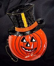 Vintage Halloween Jack O Lantern Coin Purse, Old Stock, Barton's Candy, Pumpkin