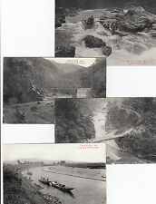 Real photo 8 postcards from Japan in pack Hozu River, 2 cards river misspelt