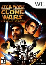 STAR WARS The CLONE WARS REPUBLIC HEROES Wii - LN