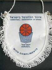 ISRAEL BASKETBALL FEDERATION SMALL PENNANT 14x15cm