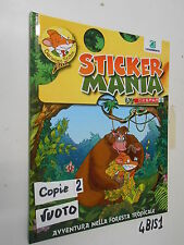Album figurine STICKER MANIA DESPAR VUOTO Stiloton avventura foresta tropicale
