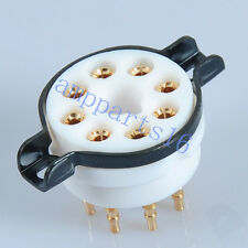 2pc gold plated Ceramic Teflon base 8 Pin EL34 KT88 6SN7 6550 Tube/Valve Socket