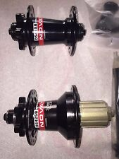 Novatec Black Hub Set (D541SB & D542SB) for MTB Disc, Includes Conversion Kit