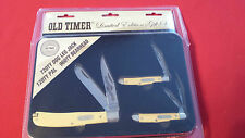 SCHRADE OLD TIMER 2014 LIMITED EDITION GIFT SET: COLLECTOR'S TIN & 3 KNIVES