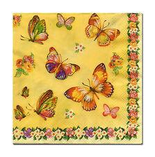 4 Tolle lose  Servietten Napkins Tovaglioli  33x33cm Schmetterlinge (721)