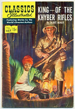 CLASSICS ILLUSTRATED #107 (1st) VG, KING OF THE KHYBER RIFLES, Comics 1953