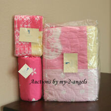 Pottery Barn Kids Summer TIE DYE Butterfly Twin Quilt+Sham+Sheet Set PINK/GIRLS