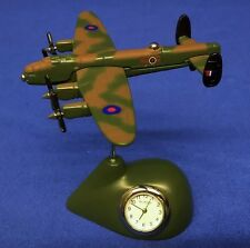 WILLIAM WIDDOP ROYAL AIR FORCE RAF AVRO LANCASTER BOMBER MINIATURE CLOCK 9421