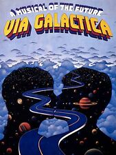 ADVERTISING THEATRE STAGE MUSICAL VIA GALACTICA FUTURE STAR PLANET POSTER LV1176