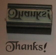 Thanks! rubber stamp by Amazing Arts