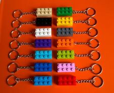 LEGO 30 x BRICK KEYRINGS  13 DIFFERENT COLOURS - NEW PARTY BAG
