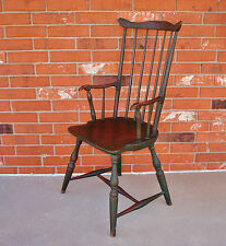 Fine & Rare Green-Painted Fan-Back Windsor Armchair, Vermont, USA, Circa 1790