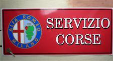 ALFA ROMEO Modern Logo SERVIZIO CORSE large Workshop Garage Sign Sticker