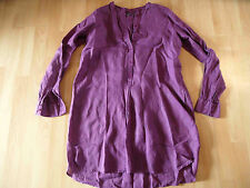 CLOSED lange Leinentunika lila Gr. XS TOP BI516