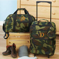 Luggage for Kids Boys Sets Small Rolling Suitcase Duffel Bag Camo Initial D 3pc
