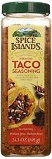 Spice Islands Premium Taco Seasoning with chipotle GLUTEN FREE 24.5 OZ