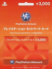 PlayStation Network Card 3000 YEN Instant Code - Japan / PSN PS4 PS3 PSVita PSP